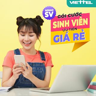 Gói MimaxSV Viettel Miễn phí Data cho Sinh viên