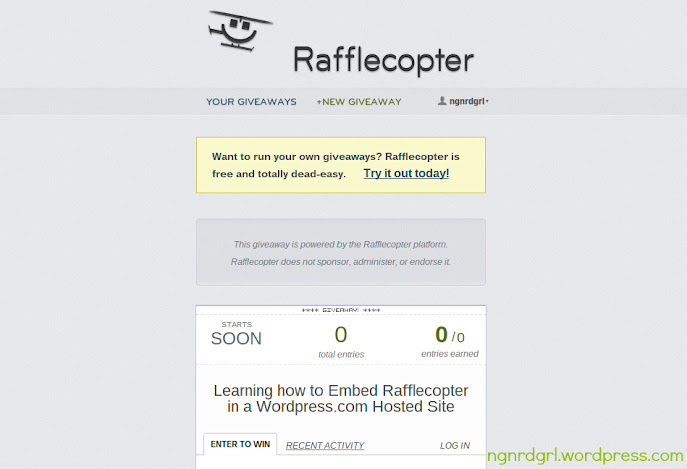 Rafflecopter Widget Page - Click to Enlarge