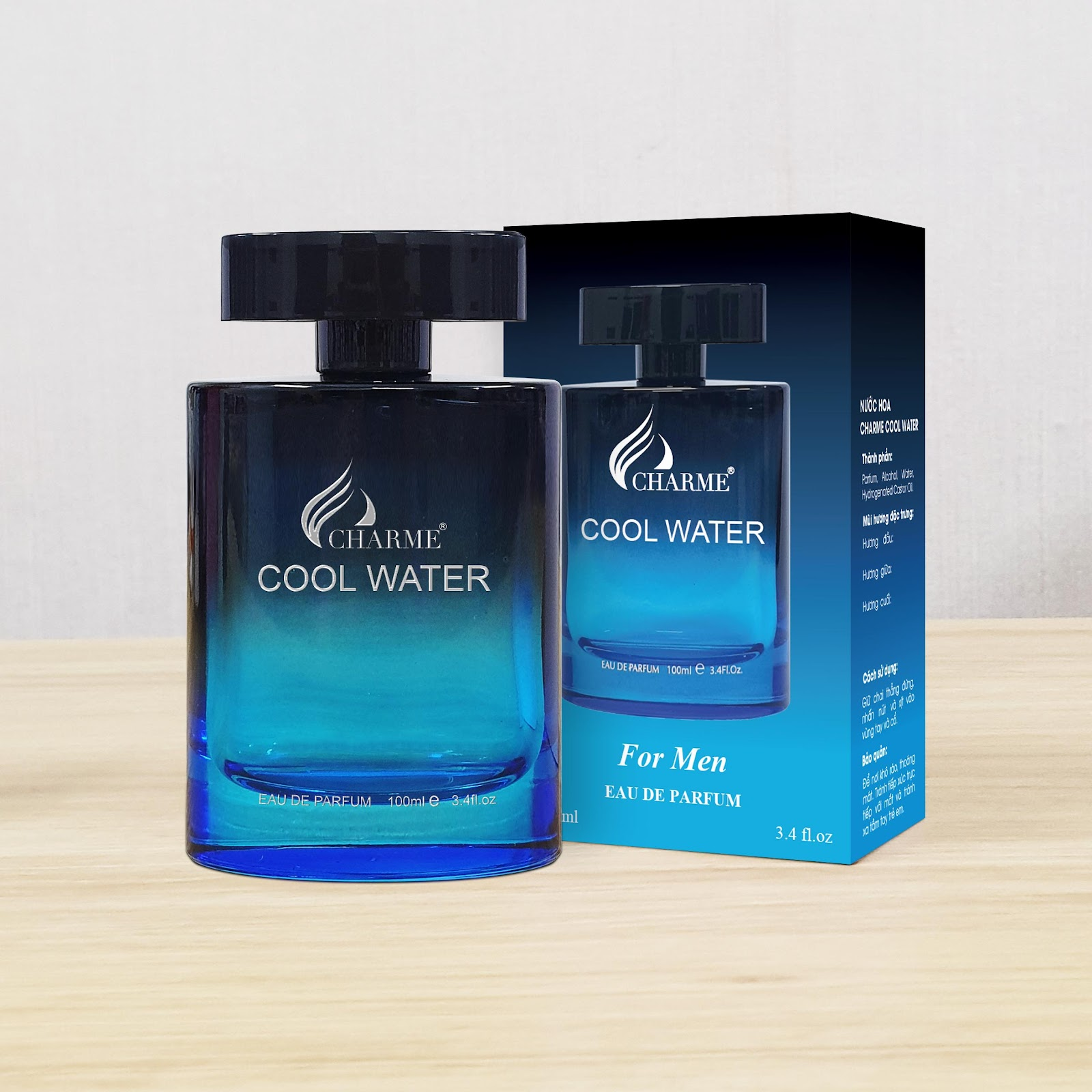 Nước Hoa Charme Cool Water 100ml Nam Chính Hãng✔️Tặng Quà Hot