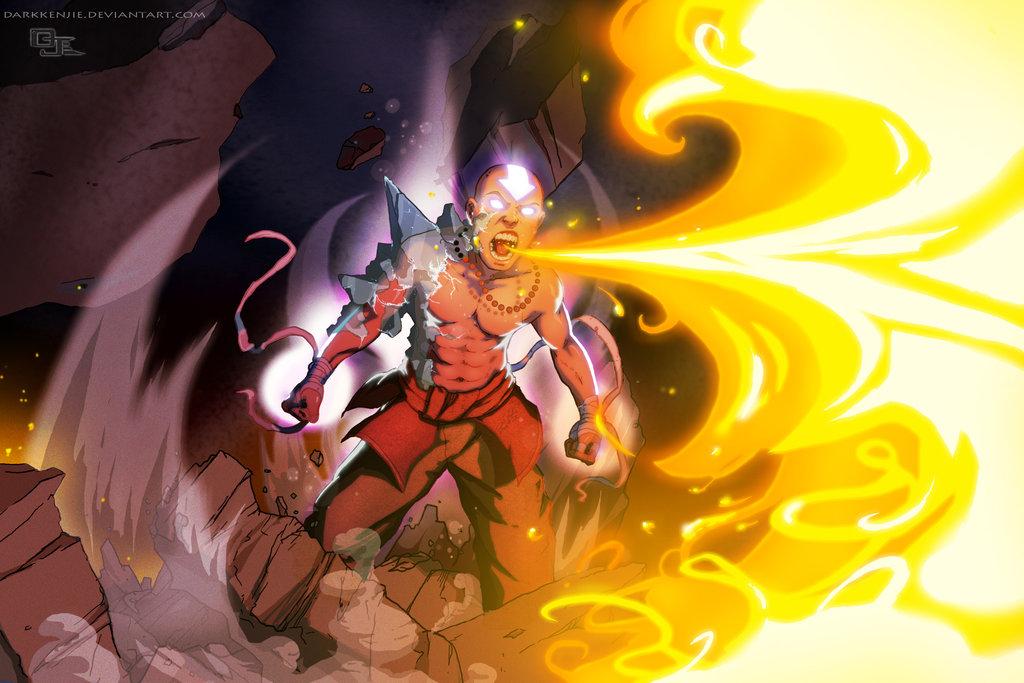 Avatar Aang by DarkKenjie