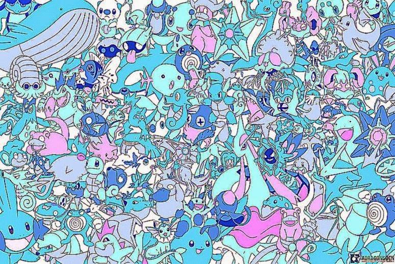 All water pokemon wallpaper by LVStarlitSky on DeviantArt
