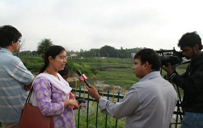 10-Sep-2011 TV9 at the bird watching Pic: Sanjay M.