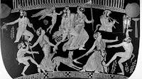 Μαινάδες ήταν Nύμφες με κύριο χαρακτηριστικό τους την εκστατική μανία, δηλαδή την υπερκινητική και βίαιη συμπεριφορά .