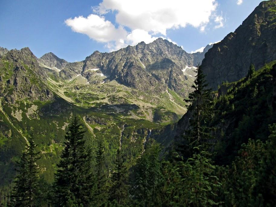 Zejście z Ciężkiej Przełęczy