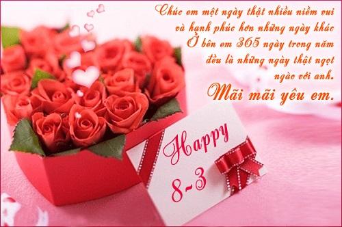 Ảnh hoa hồng chúc mừng 8-3 tặng người yêu ý nghĩa nhất