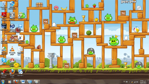 Tema de Angry Birds para Windows 7