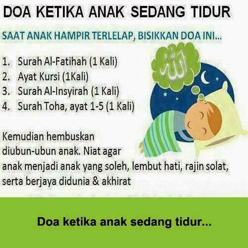 Doa ketika anak sedang tidur.