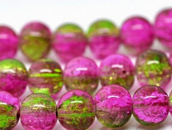 Crackle Glass Beads from The Bead and Button Company