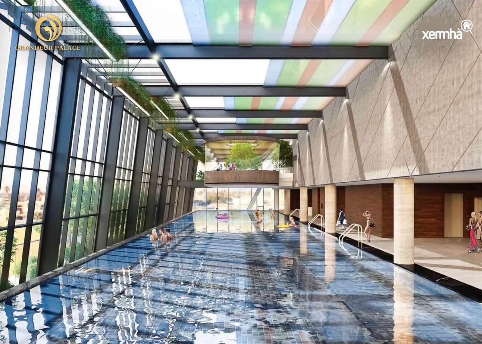 Bể bơi bốn mùa dự án Grandeur Palace