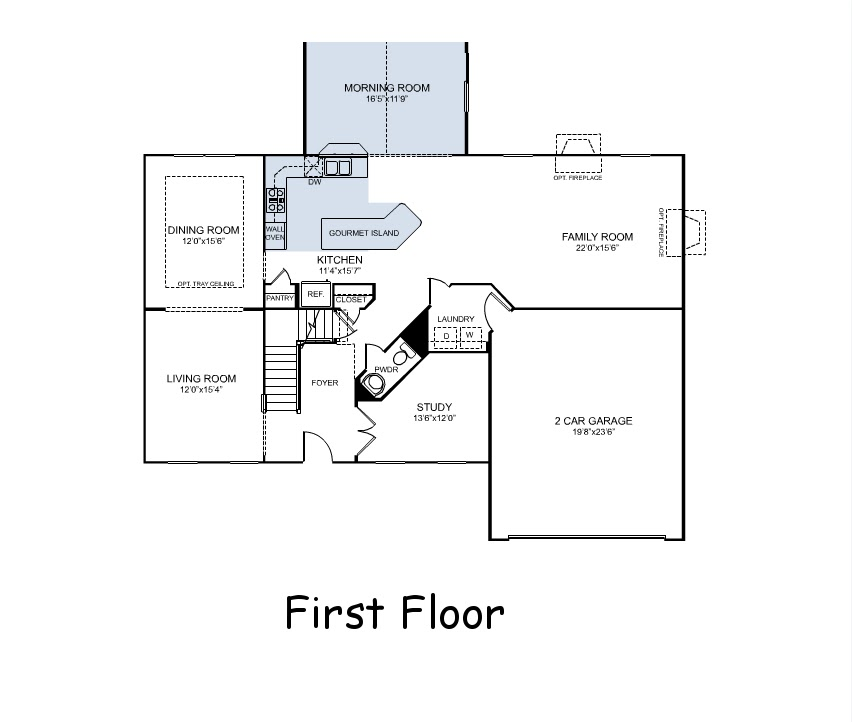 Our First Home Build Floor Plans Courtland Model by Ryan Homes