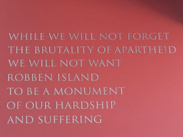 Robben Island wisdom words, Capetown, South Africa