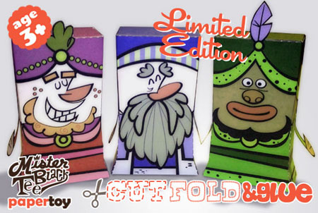 Three Kings Paper Toy
