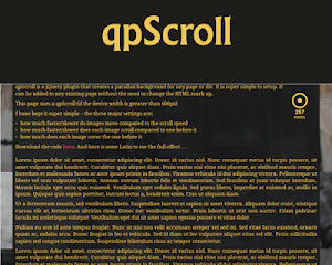 qpScroll – jQuery Plugin for Parallax Background