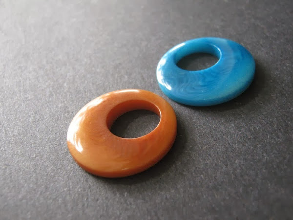 Tagua Nut Gypsy Hoop Pendants