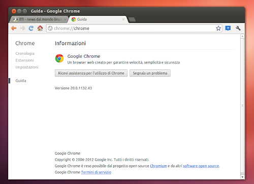 Google Chrome 20 su Ubuntu 12.04