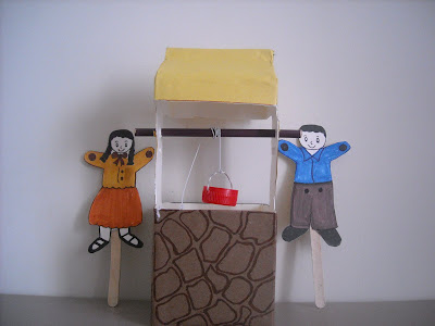 Jack and Jill Rhymes puppets