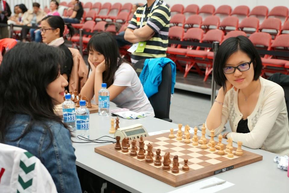 Yifan Hou lista para la batalla.