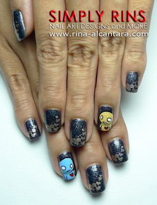 Pon and Zi Nail Art by Simply Rins