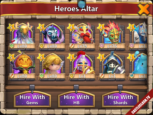 Account Castle Clash have Pumpkin duke and Cupid druid