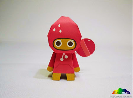 Strawberry Cookie Papercraft