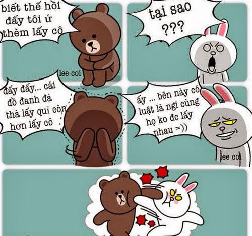 1001 ảnh chế Gấu Brown và Thỏ Cony hài hước, bá đạo nhất