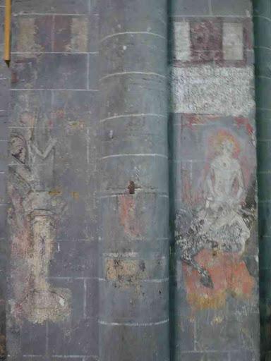 Fresque à l'intérieur de l'église de Chanteuges
