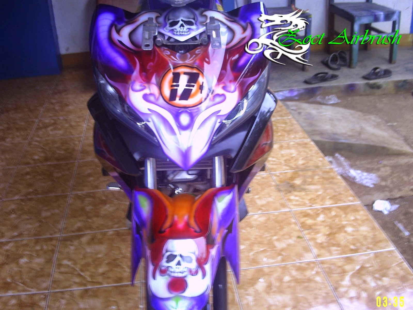 Modifikasi Motor Jupiter Mx Airbrush