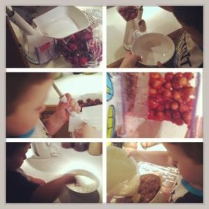 Montessori kids in the kitchen, Collage Friday