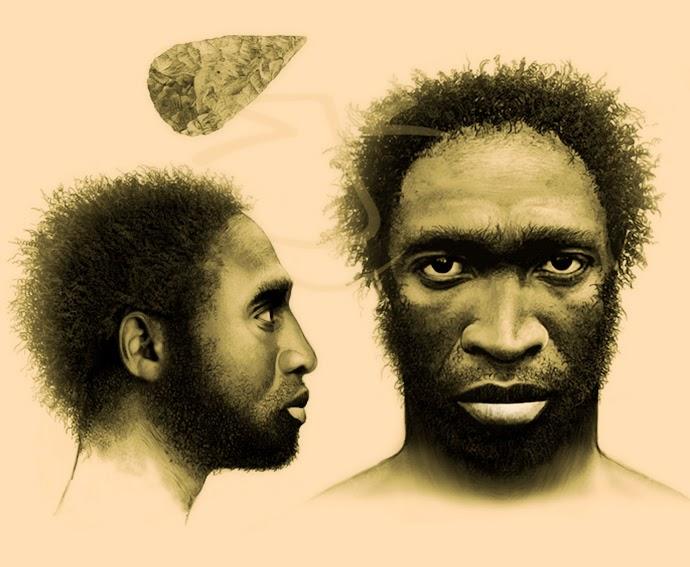 Homo sapiens. Ilustración de Stuart Jackson-Carter.
