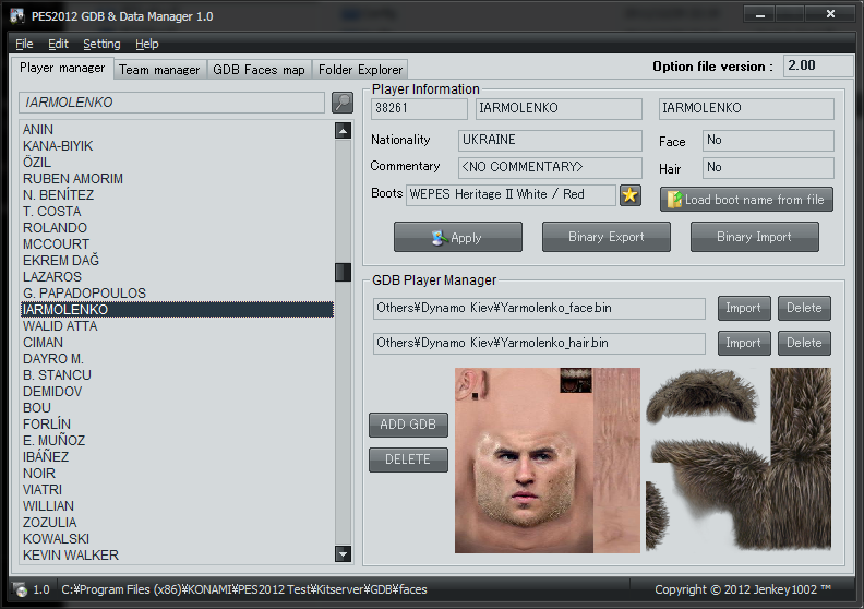 GBD Manager 1.4 - PES 2013