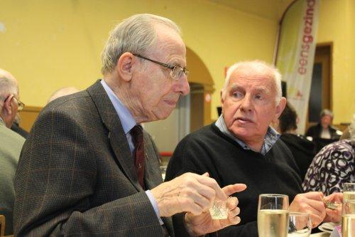 Pastoor De Smet en Frans Billens.