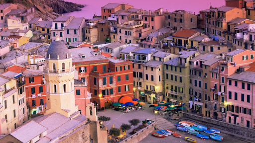 Vernazza Village and Harbor at Dusk, Cinque Terre, Italy.jpg