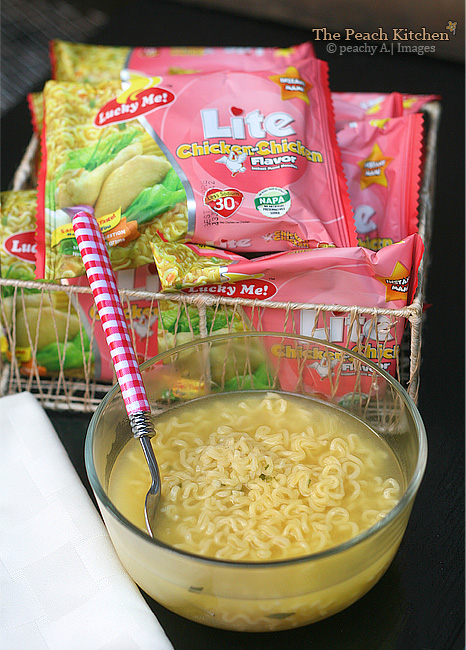 Enjoy it Lite with the New Lucky Me! Lite! 30% Less Sodium, 100% Sarap