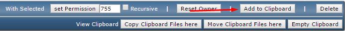 Directadmin clipboard
