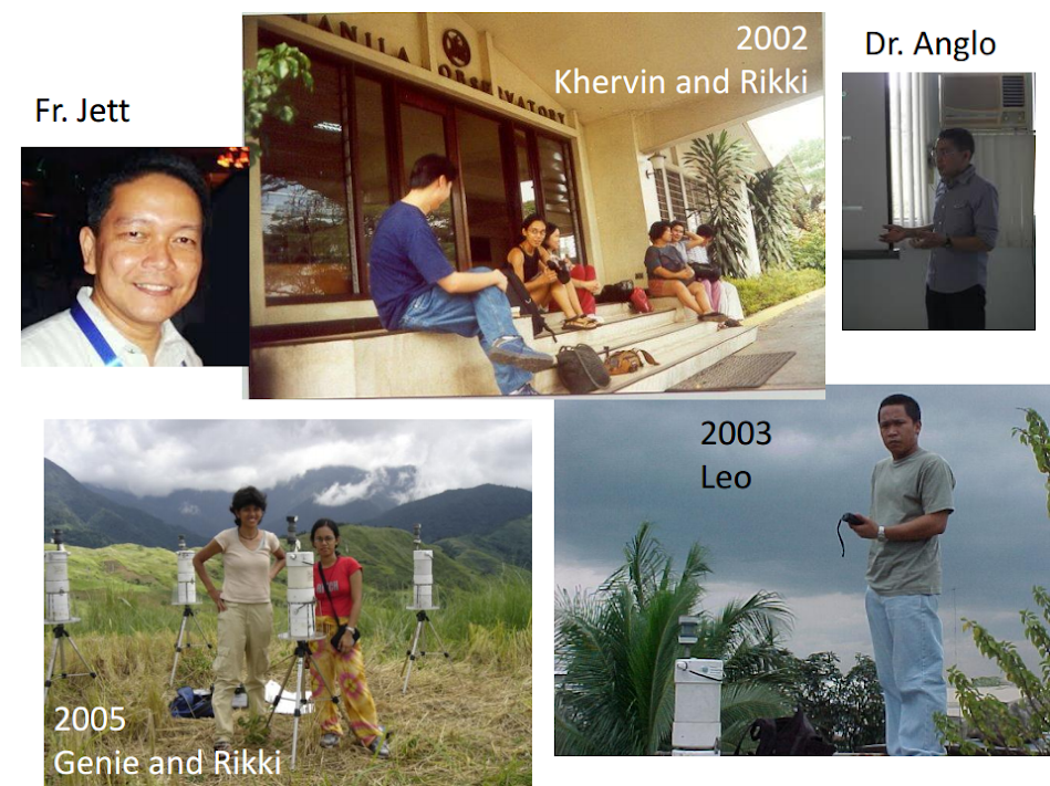 Fr Jett, Khervin and Rikki (2002), Dr. Anglo, Leo (2003), Genie and Rikki (2005)