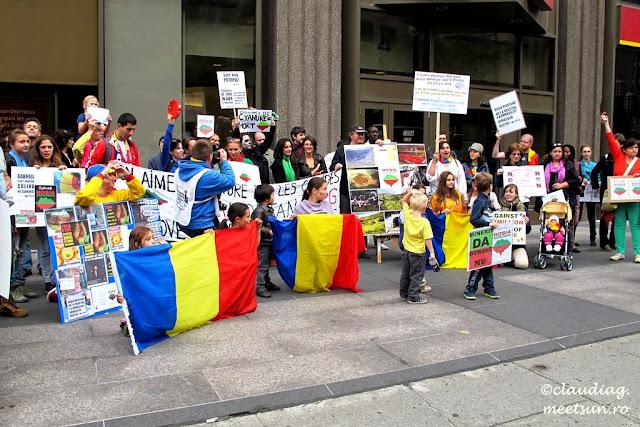 proteste pentru Rosia Montana