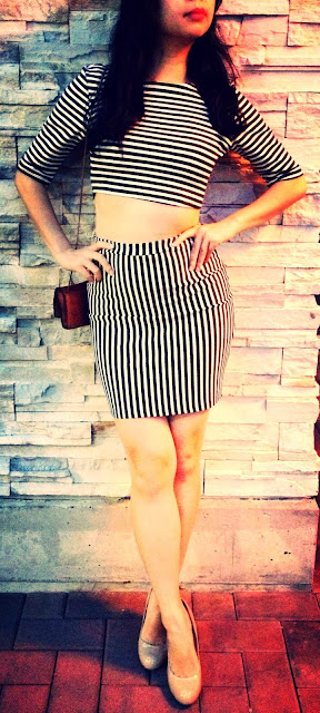 stripe dress crop top