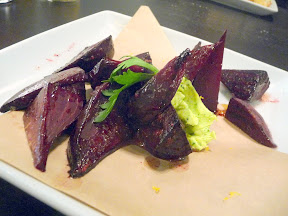 Warm Beets, tossed in gremolata compound butter, Sides at Picnic House, Portland