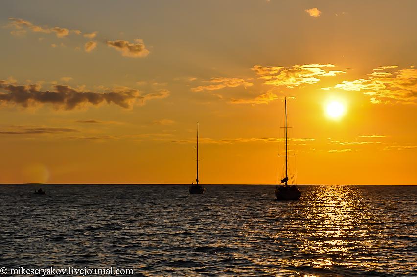 Закат солнца на Маврикии