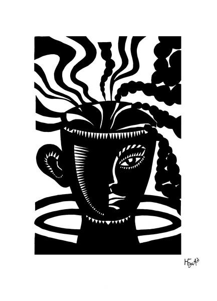Кофе (цветная бумага 31х21)