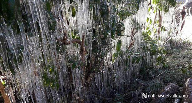 Bajas temperaturas en el occidente del pais