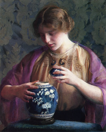 William McGregor Paxton - The Oriental Jar