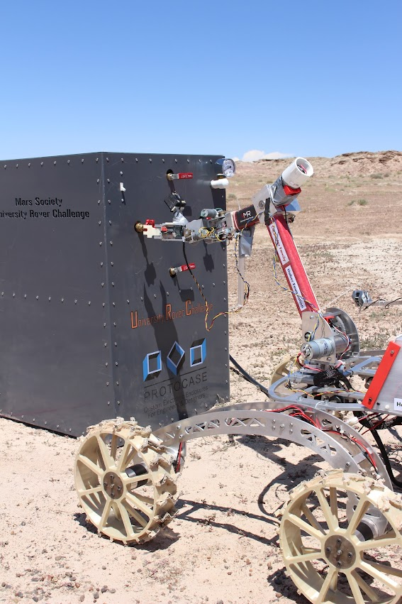 Cornell Mars Rover begins their work on the Equipment Servicing Panel