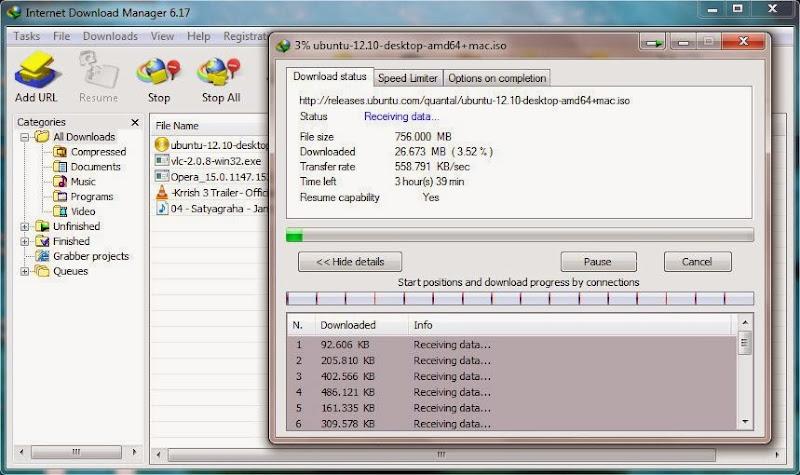 Screenshot of Internet Download Manager IDM v.6.17 Build 6 Incl. Crack+Serial PC Software Free Download at alldownloads4u.com