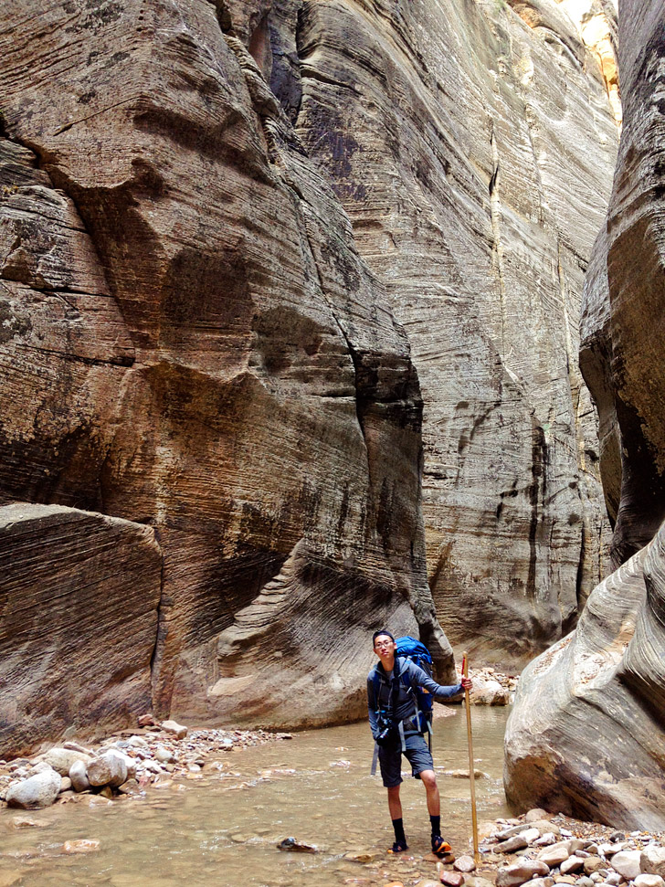 The Narrows Zion Hike.