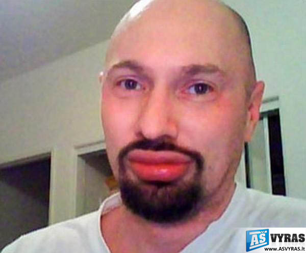 Vyro silikoninės lūpos