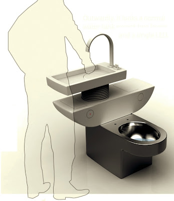 This concept sink and toilet combo from designer Jang Wooseok has two  tanks  one fills with gray water and uses it for flushing once it s full. Tiny Ass Apartment  We re sinking   Five sink combos that save