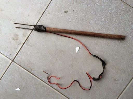 Mũi tên của súng bắn điện mà 2 tên trộm chó sử dụng.