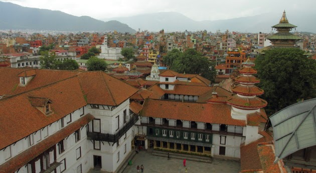 View from the 9th storey of Kathmandu Palace
