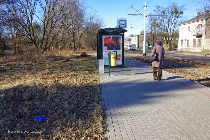 Droga dla rowerów ominie peron przystankowy.